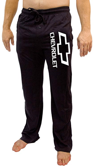 GM Chevrolet Logo Men's Black Sleep Pants