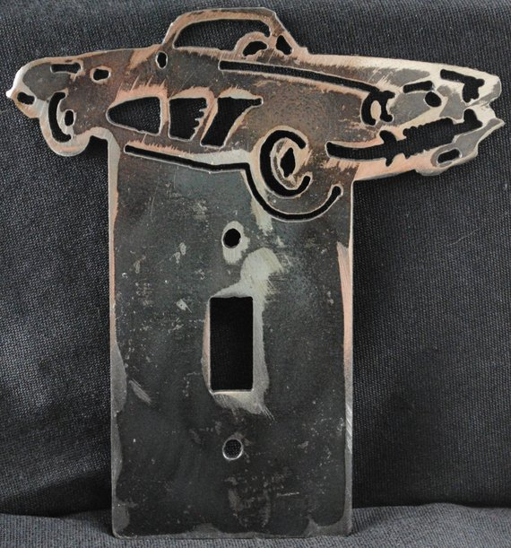 1958 Chevy Corvette Single Light Switch Cover Plate