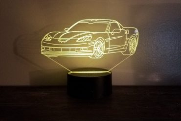 Chevy Corvette C6 LED Display Table Lamp