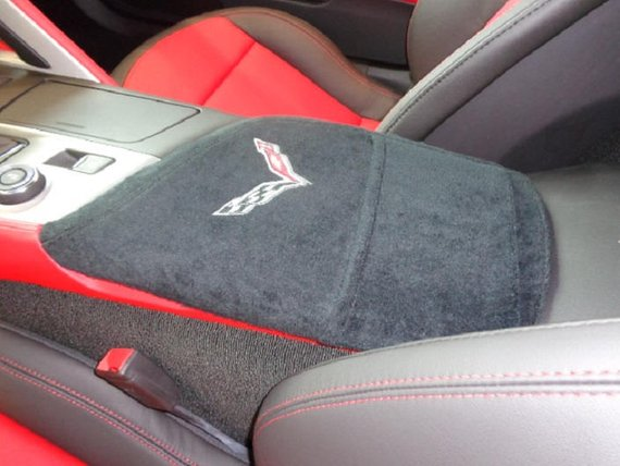 Corvette Embroidered Luxury Car Armrest Cover