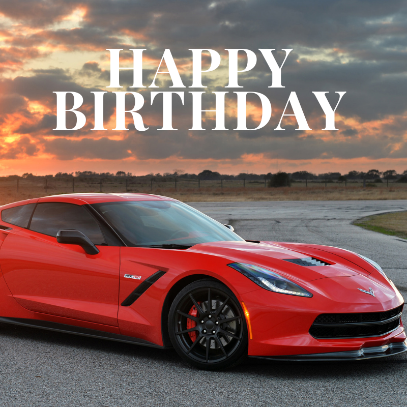 Happy Birthday Corvette Meme