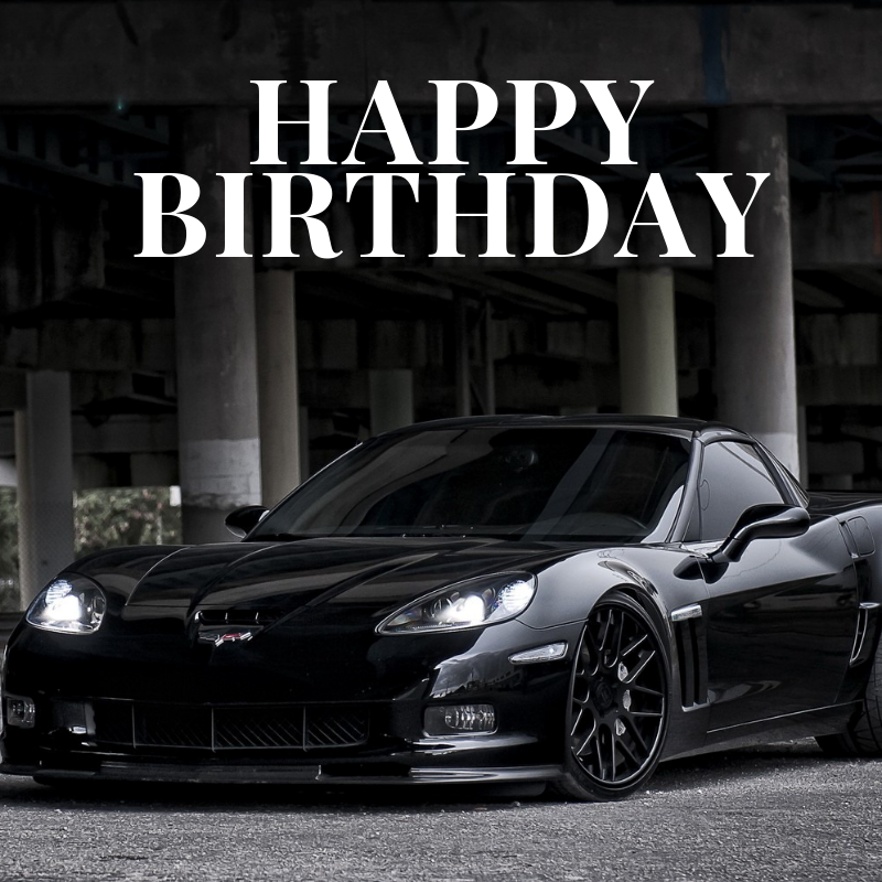 Corvette Happy Birthday Meme