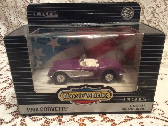 Vintage 1993 ERTL Classic Vehicles 1960 Corvette