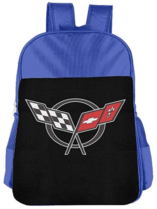 Shijingshan Corvette-logo School Book Bag