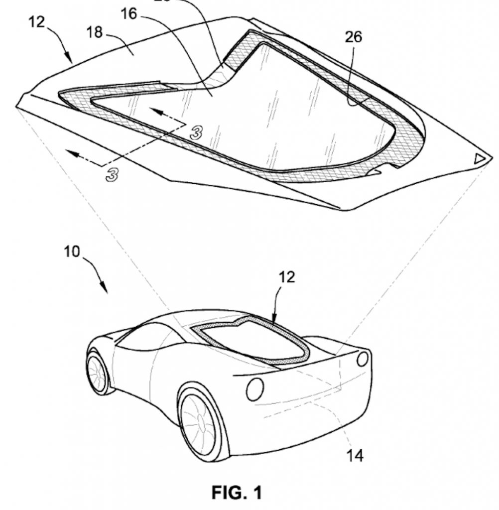 "GM's Patent Drawing for the ""Venting Module for Vehicle Compartment Cover Assembly"" (2 of 2)"