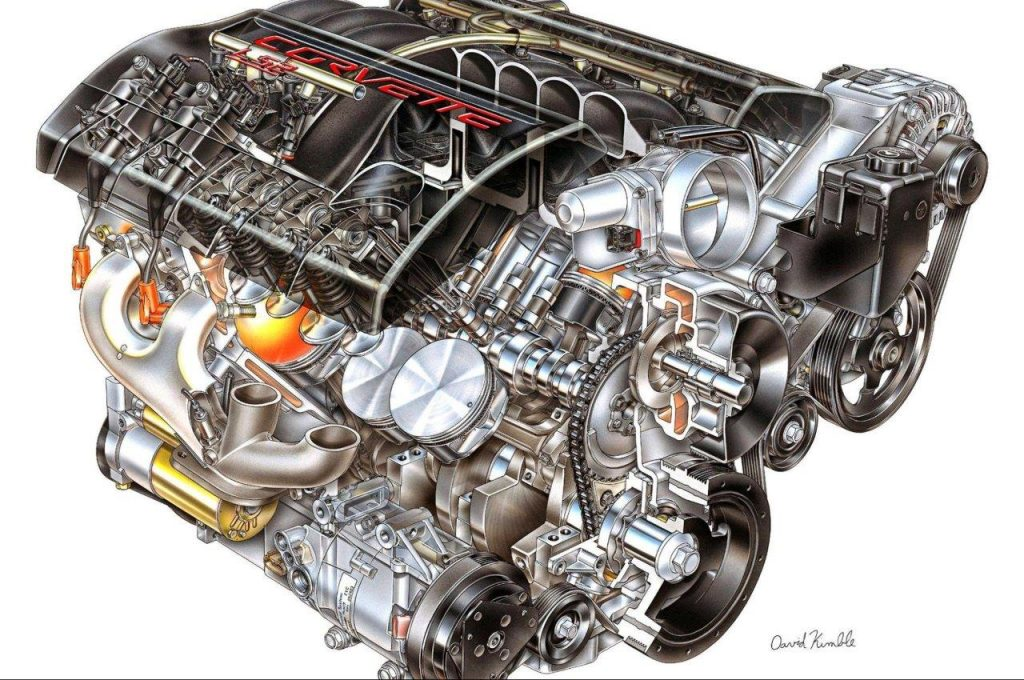 Chevrolet LS1 Engine / Illustration by David Kimble