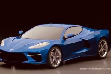Mid-engine Corvette rendering