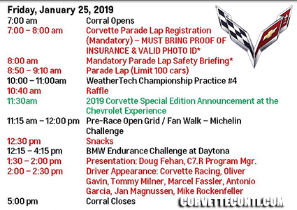 Rolex 24 at Daytona schedule