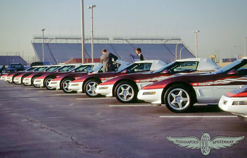 The 1995 Corvette Pace Car Replicas at the Indianapolis 500.