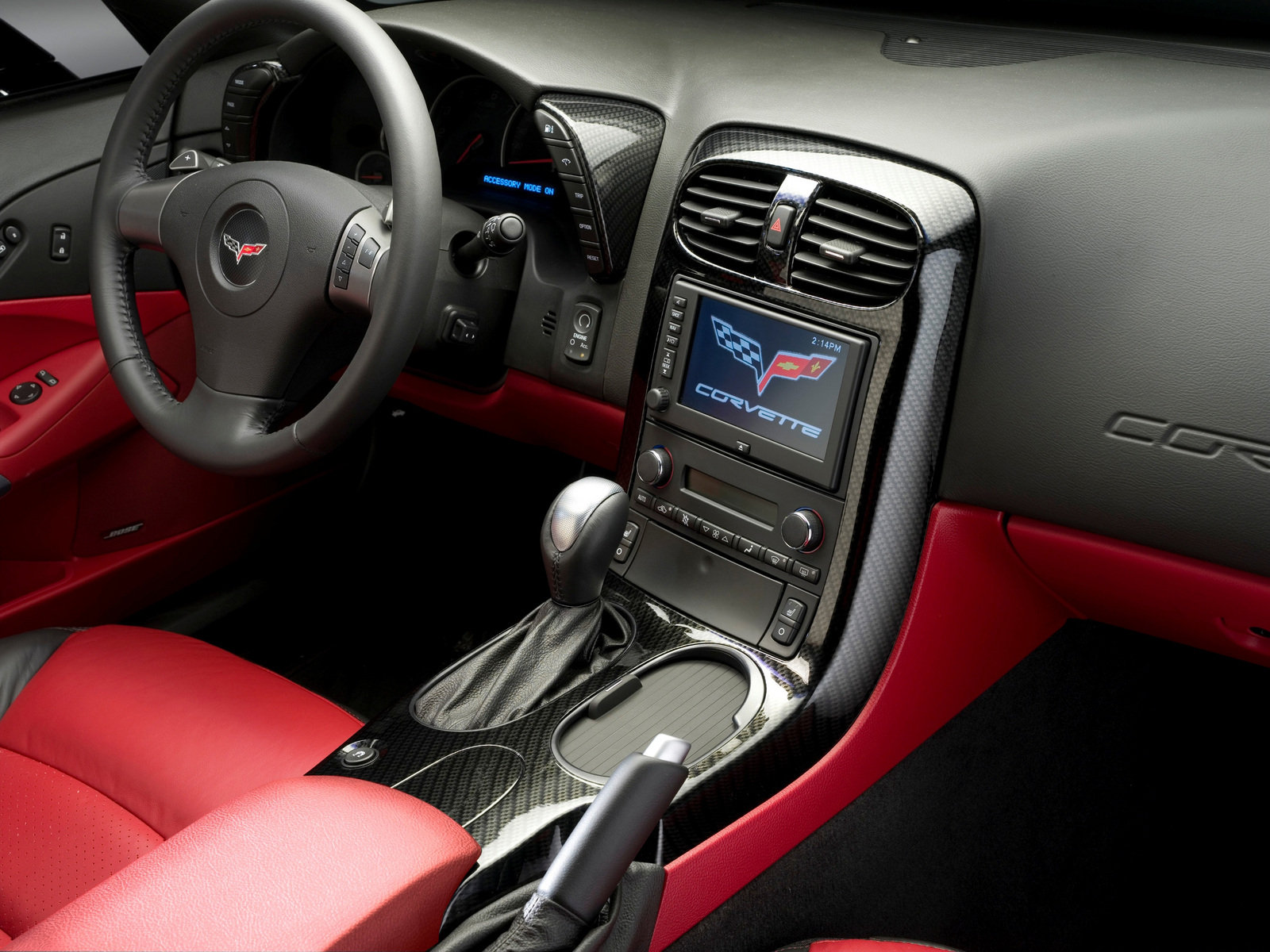 Interior of 2007 Victory Edition Corvette