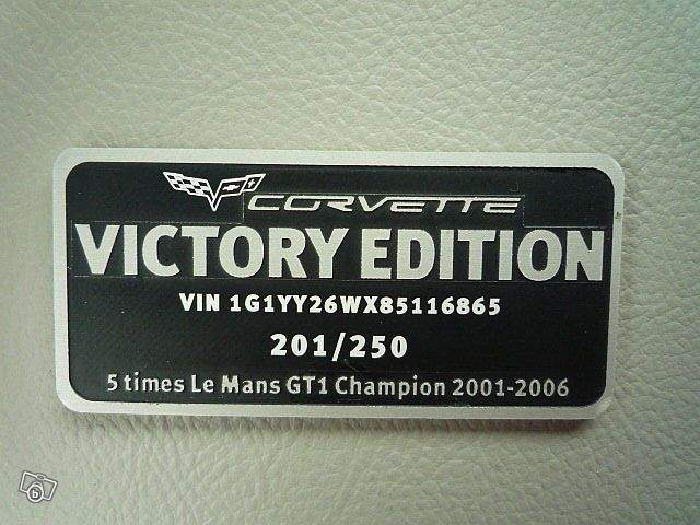 2007 Victory Edition Corvette Badge