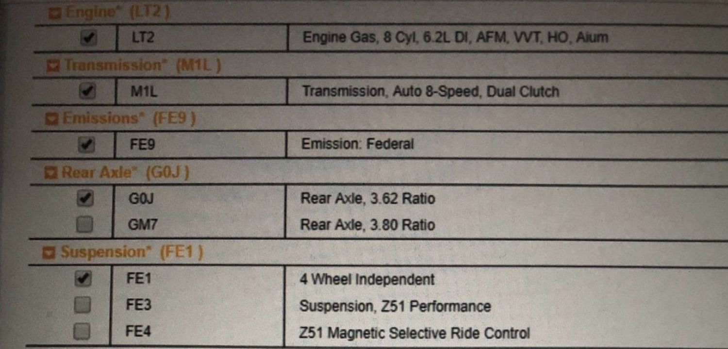 check out the 2020 corvette c8 u0026 39 s order sheet