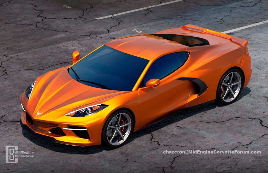 midengine Corvette rendering
