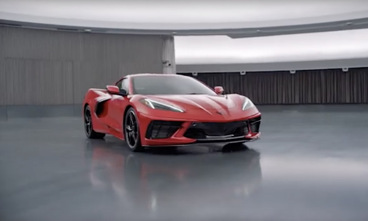 C8 Corvette in mid-engine video