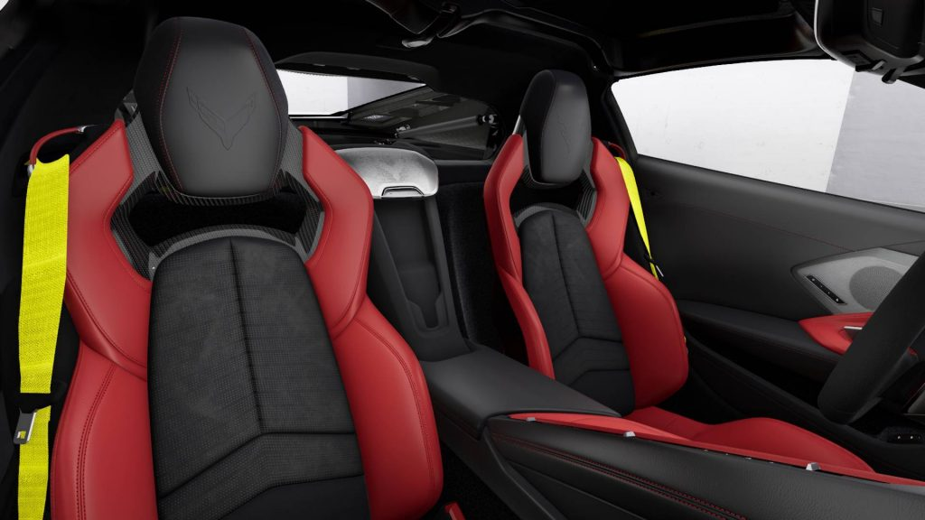 The 2020 Corvette could be ordered with seatbelt strap colors that differed from the rest of the interior.