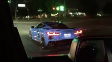 C8 Corvette take off from stoplight