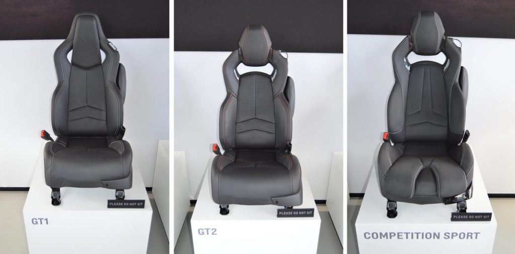 The GT1, GT2 and Competition Sport Seats of the 2020 Corvette Stingray.