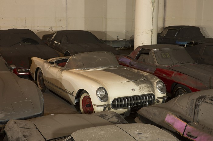 The 1953 Corvette from Peter Max's collection before its restoration.