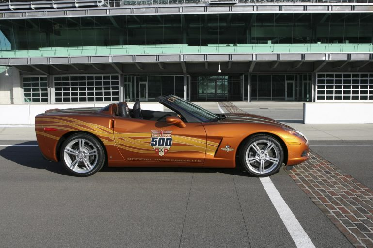 2007 Indianapolis 500 Pace Car Corvette Convertible Orange