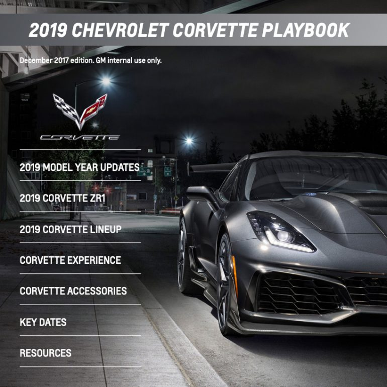 2019 Corvette Playbook