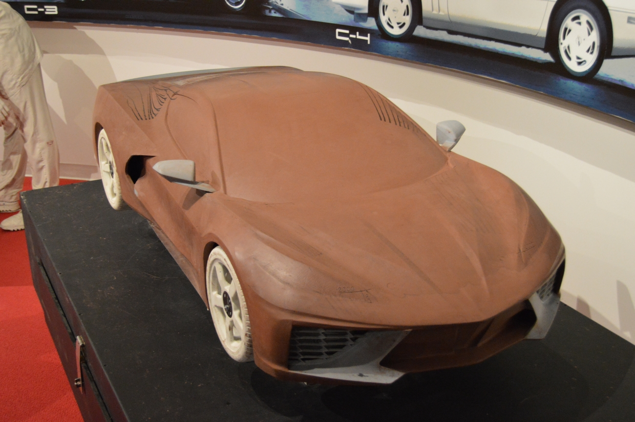 One of the engineering C8 prototype clay models created by GM during the development of the car's aerodynamic design/configuration.
