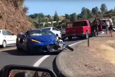 C8 Corvette accident