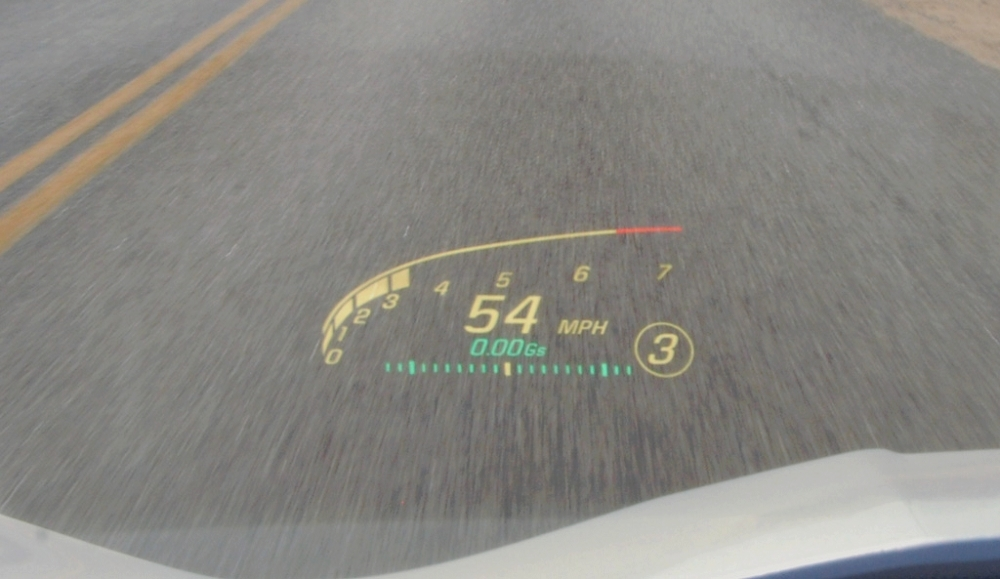 The Heads-Up Display is included in the 2LT and 2LZ packages on the 2018 Corvette.