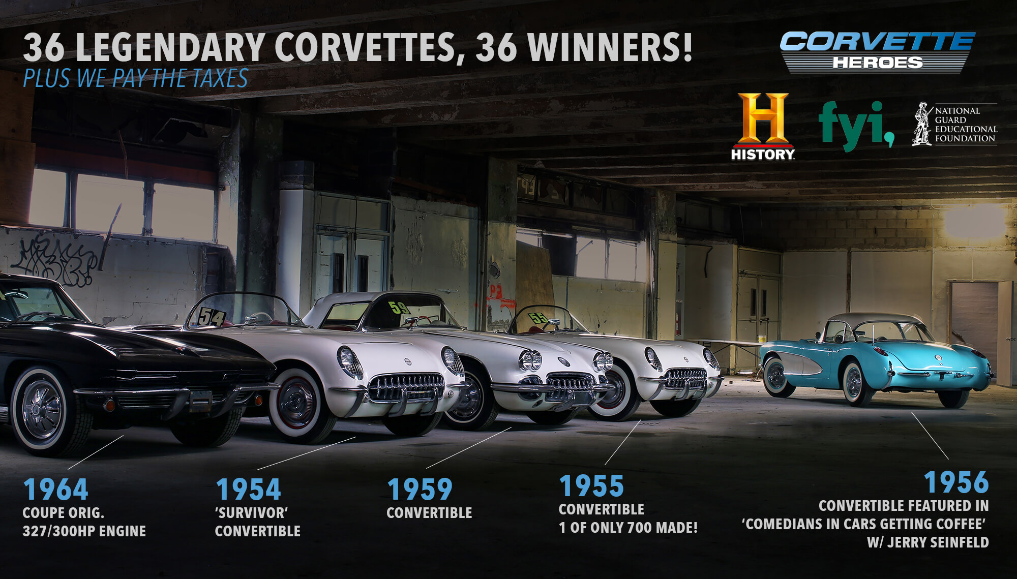 The History Channel will host a special about the Peter Max Corvette Collection later this month.