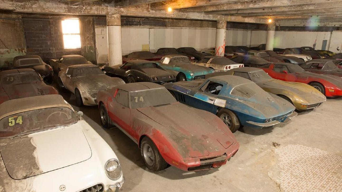 The Peter Max Corvette Collection sat abandoned for nearly 25 years in various New York City parking garages.