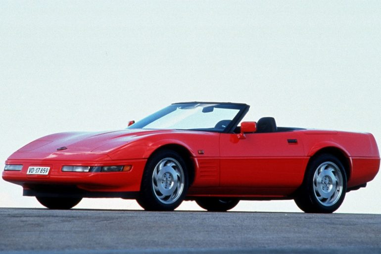 1991 COrvette Convertible (equipped for European export - note the side marker lights on the front fenders.)