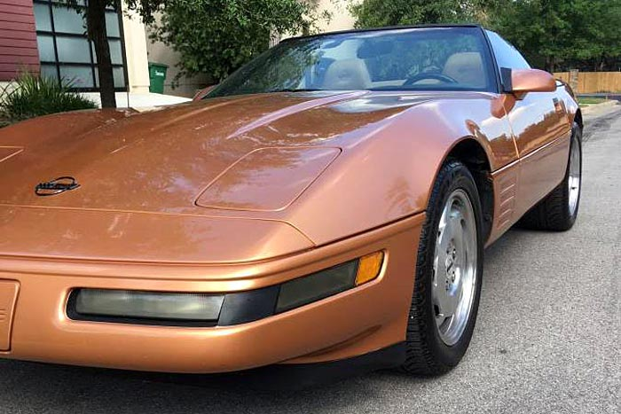 A 1994 Corvette finished in Copper Metallic.