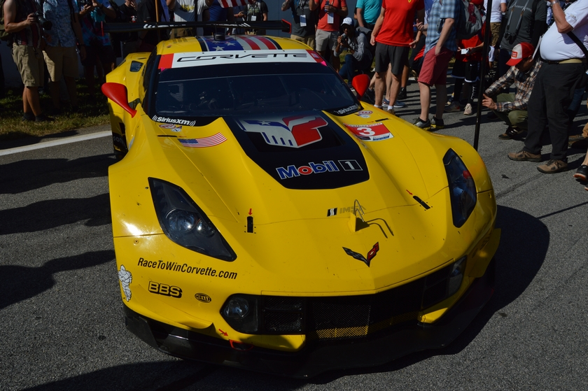The No. 3 C7.R Corvette before the start of the Petit Le Mans at Road Atlanta. Image courtesy of Scott Kolecki/Corvsport.com