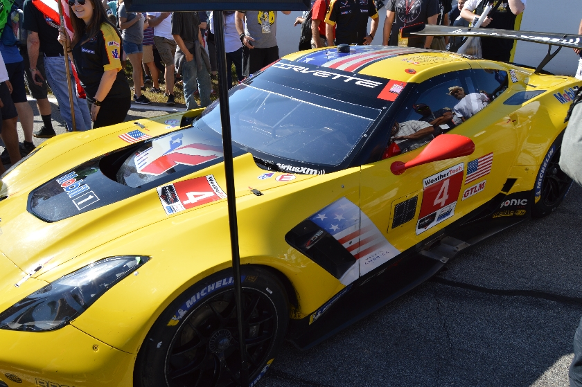 The No. 4 C7.R Corvette before the start of the Petit Le Mans at Road Atlanta.  Image courtesy of Scott Kolecki/Corvsport.com.