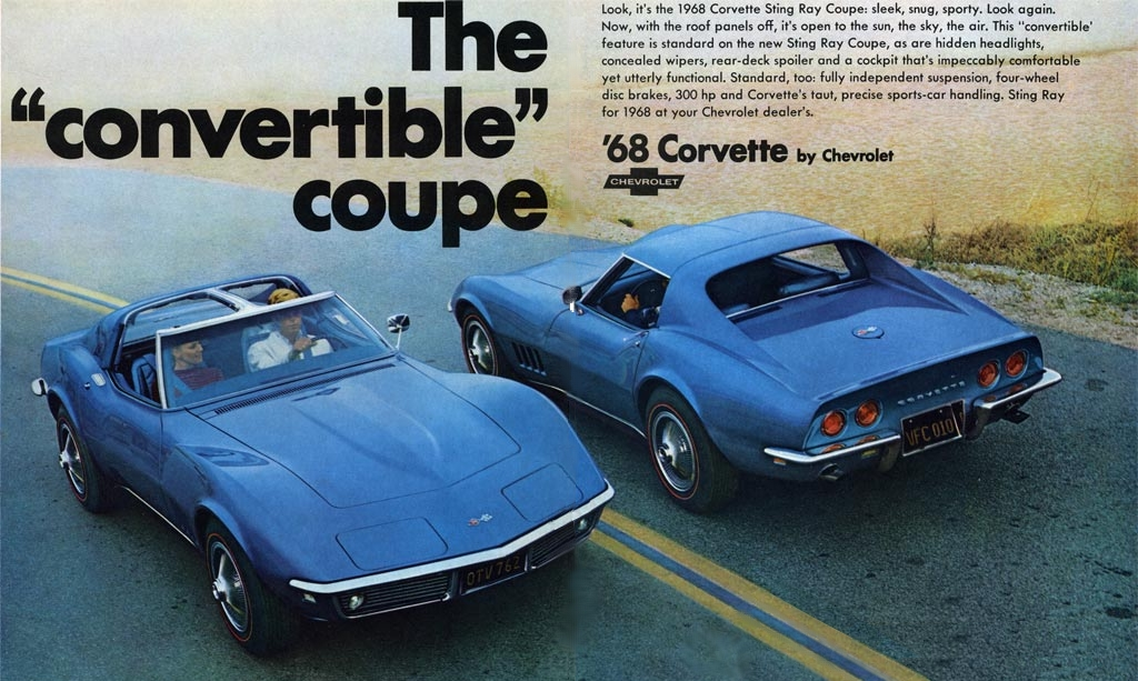 Original GM advertisement for the 1968 Corvette.