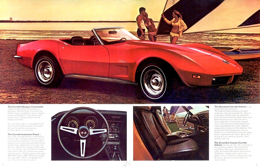 Original GM advertisement for the 1973 Corvette.