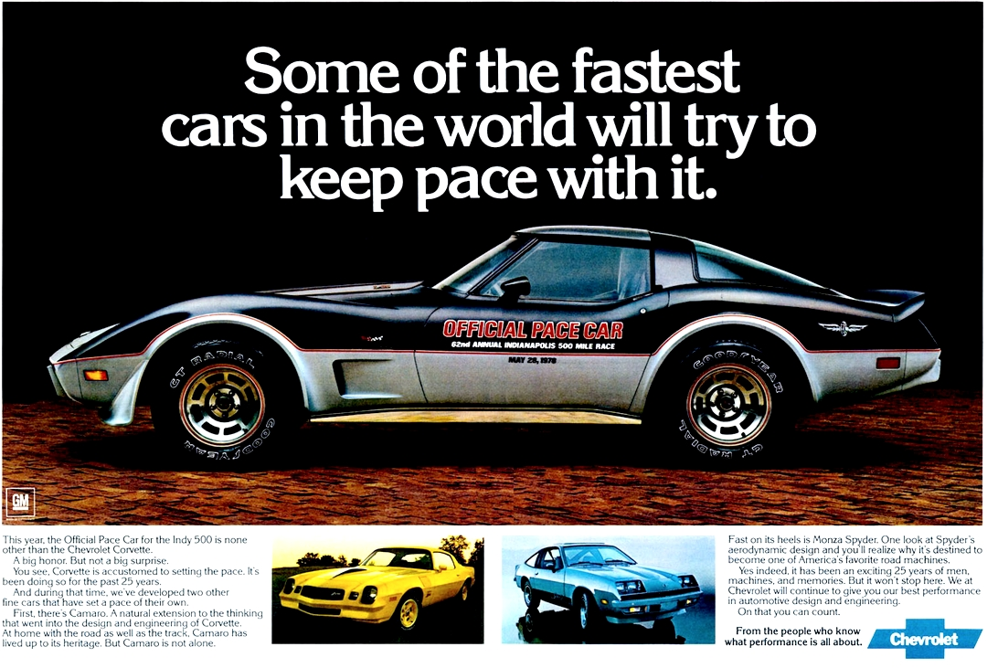 Original GM advertisement for 1978 Corvette