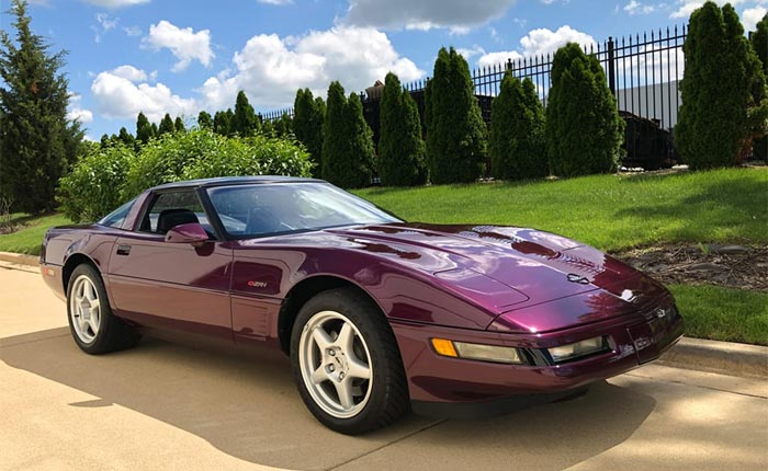 The 1995 Corvette in Dark Purple Metallic.
