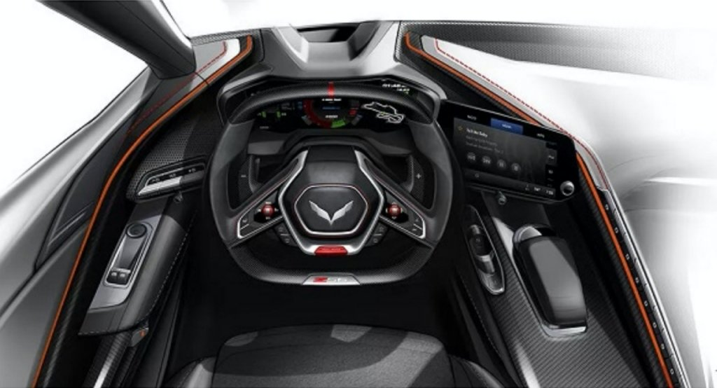Could This Design Sketch be the C8 Corvette Z06's Interior ...