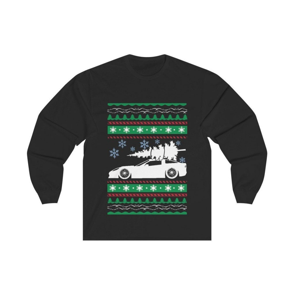 Corvette Christmas Tree ugly sweater