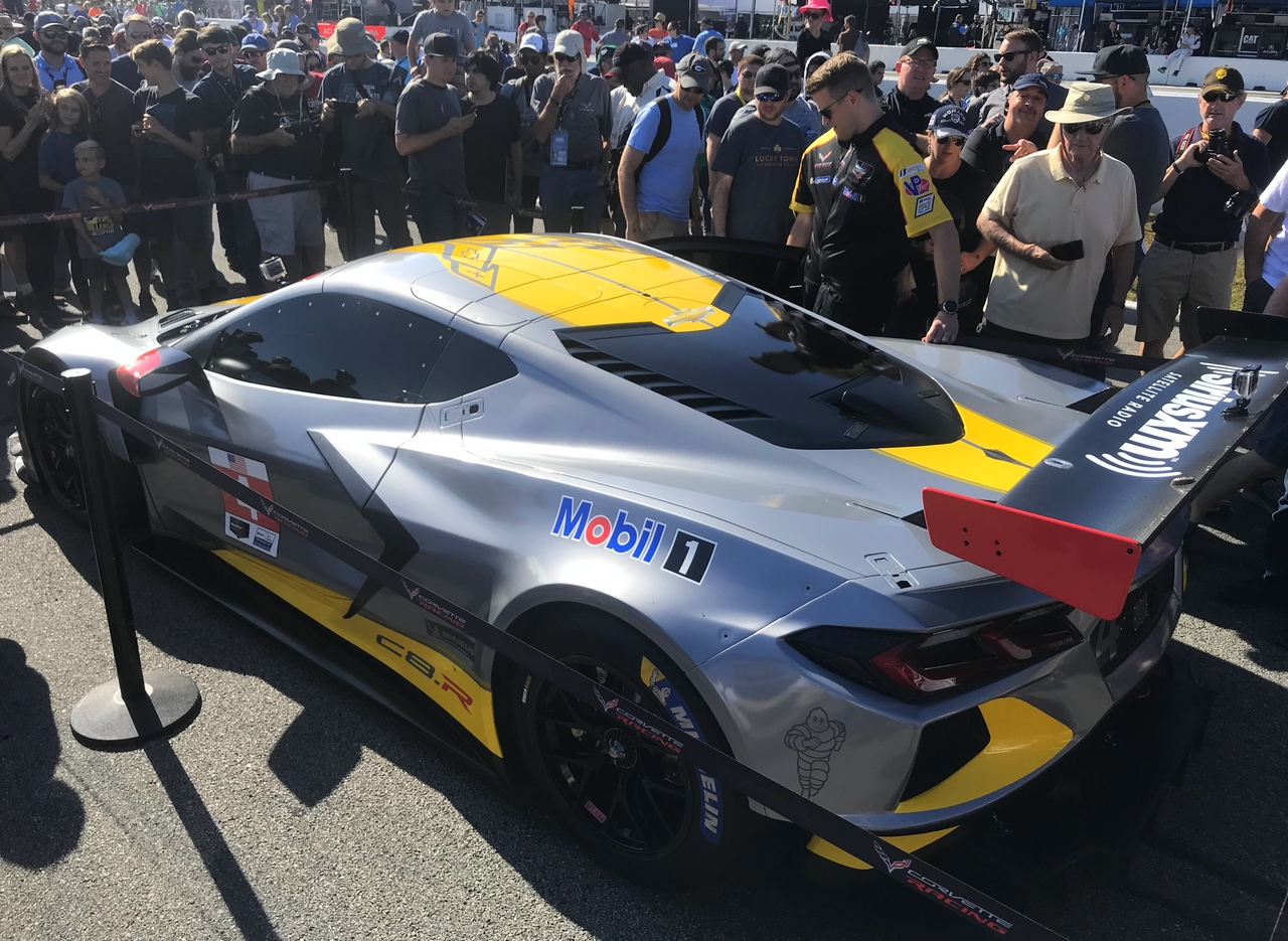 The No.4 C8.R Corvette was introduced during the Petit Le Mans at Road Atlanta in October, 2019.