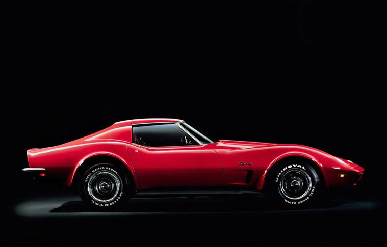 A 1973 Corvette - note the urethane rubber front bumper cover/fascia assembly.