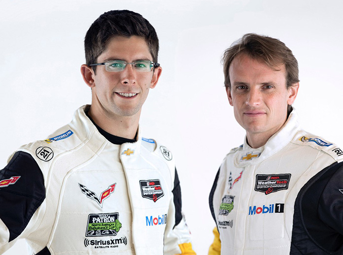 Jordan Taylor [left] will join Corvette Racing on a full-time basis, and partner with Antonio Garcia [right] in the No. 3 Mobil 1/SiriusXM Corvette C8.R – featuring a yellow livery with silver accents.
