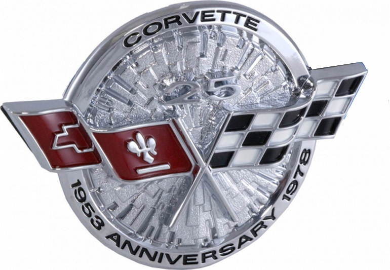 "All 1978 Corvettes received special ""Silver Anniversary"" badging."