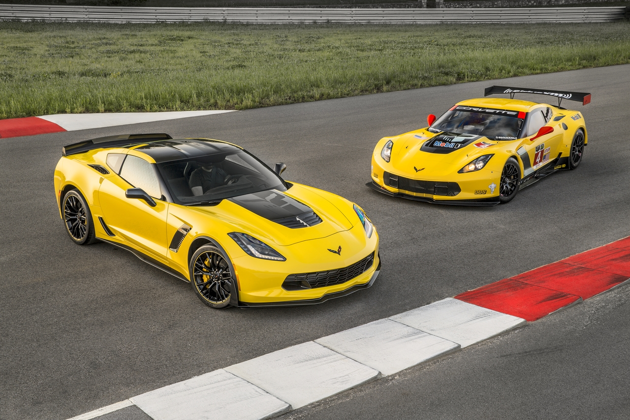The C7 Z06 Corvette shares more components with the C7.R Race Car than any Corvette has shared with its race counterpart in the history of the brand.