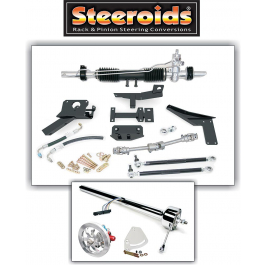 1953-1957 Corvette Steeroids Rack And Pinion Conversion Kit With PowerSteering Chrome Column