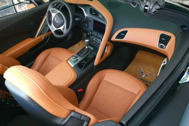 The interior of a C7 Corvette Coupe.