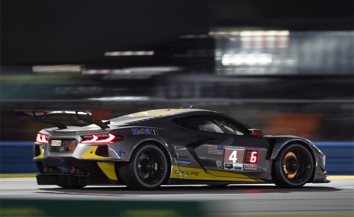 The No. R Chevy Corvette C8.R
