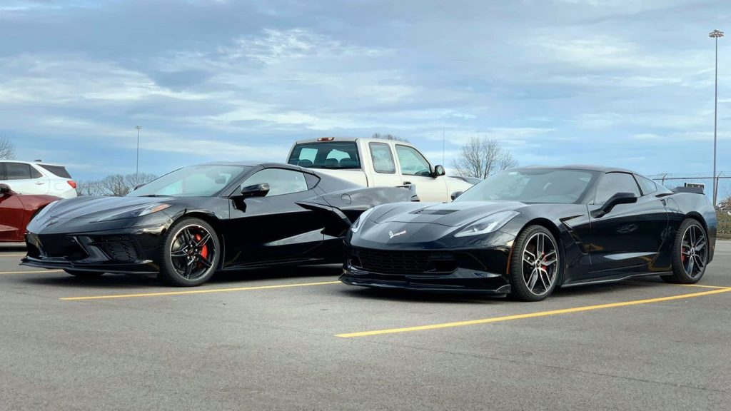 C7 and C8 side by side, front quarter angle