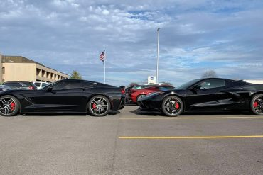 C7 and C8 side by side, side profile nose to tail
