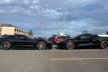 C7 and C8 side by side, nose to nose